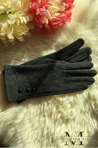 Trio buttons Gloves