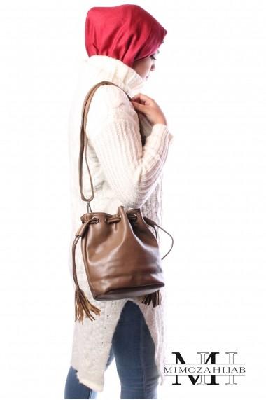 shoulder bag purse with fringe link