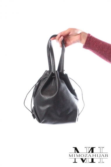 Purse bag with black cord