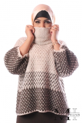 Sweater Andréa oversize with turtleneck