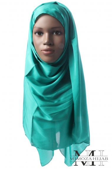 Hijab rectangle toucher Soie