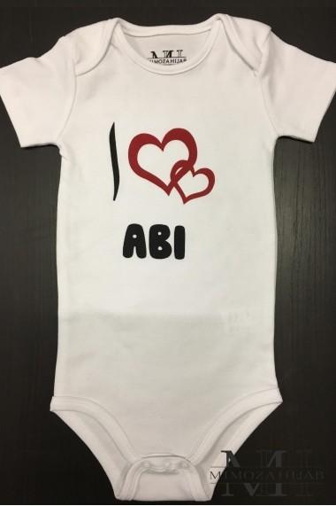Body pour bébé I love Abi