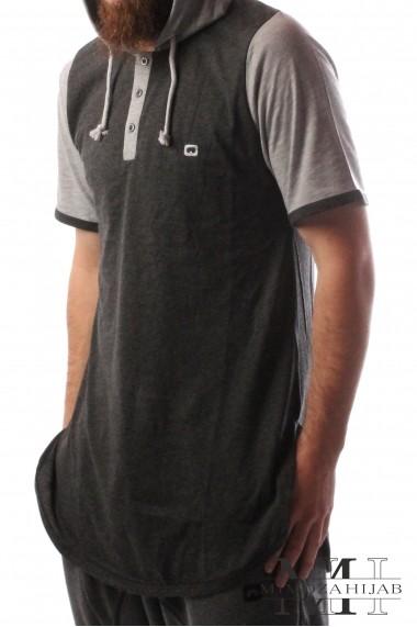 Tee shirt capuche qaba'il short sleeve