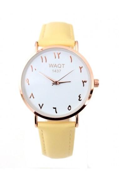 Jihane Arabic numerals watch Waqt1437