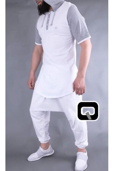 tee shirt capuche qaba'il manches courts