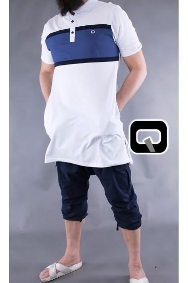 Qaba'il three-color polo shirt