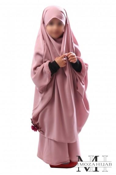 Jilbab enfant avec jupe Mayssane Rose