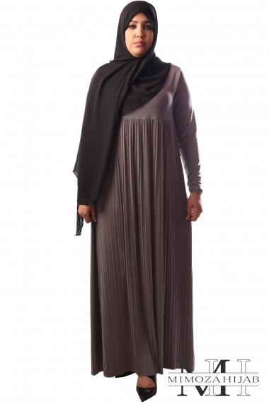 Robe longue plissée