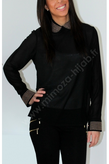Claudine studded blouse