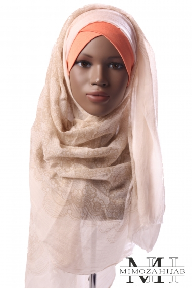 Maxi Hijab imprimé dentelle