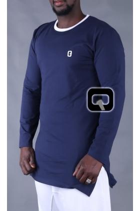 T-shirt simple qaba'il manches longues