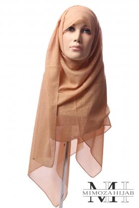 Hijab pailleté ton sur ton