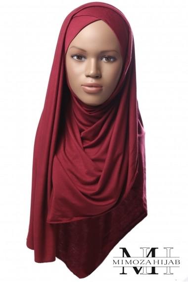 Hijab Kriss prêt-à-porter croisé