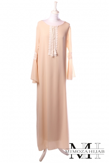 Alizee dress with bell and lace sleeves