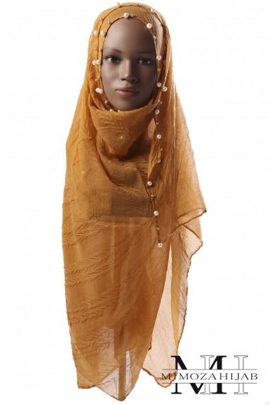 Hijab Ariel two-tone pearl