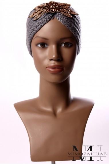 Winter headband with jewels