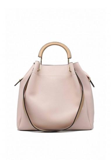 OSTA handbag with camel handles