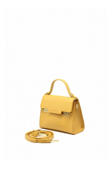 Women's Mini Flap Bag with Leather Strap