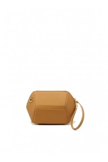 Mini Geometric HEXA Handbag with Shoulder Strap