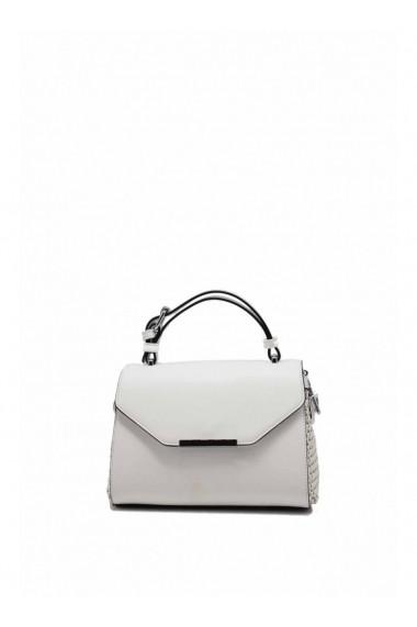 Mini Handbag MANY Braided Two-Tone with Shoulder Strap