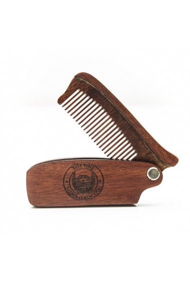 peigne de barbe en bois pliant the one cosmetix