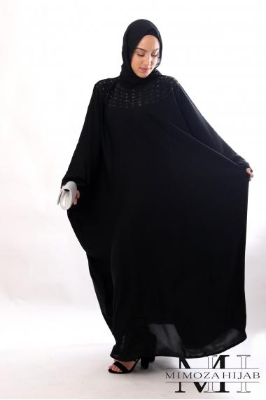 Abaya Sawsenne Papillon nidha strass