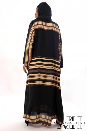 Abaya DUNE style Kimono avec rayures horizontales