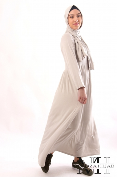 Hawa Dress integrated shawl