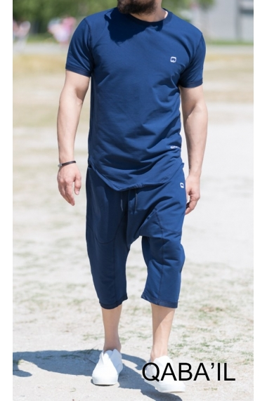 Set Nautik t-shirt and Capri pants for men Qabail 2018
