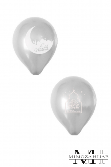 Lot of 10 inflatable balloons Eid Mubarak Muslim festival