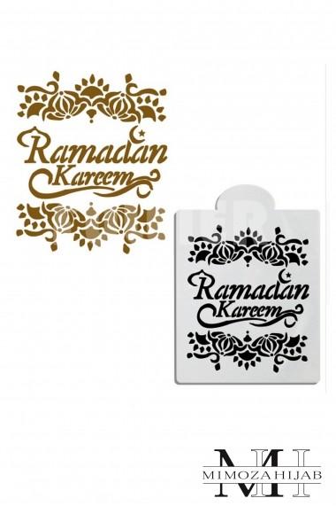 Stencil for Ramadan Kareem special cakes