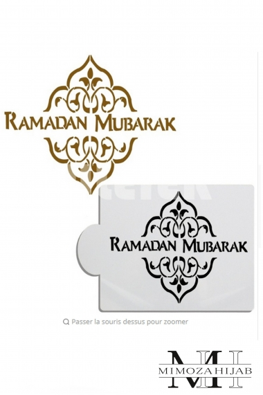 Ramadan Mubarak stencil