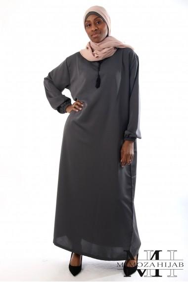Robe abaya Al Atlas manches élastiques