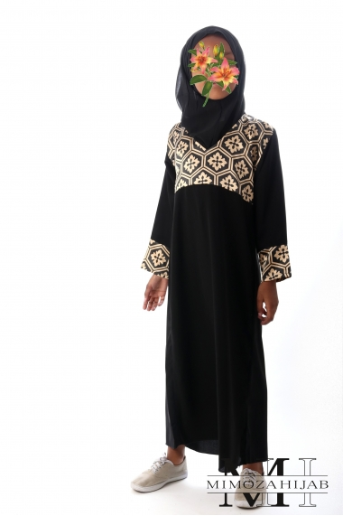 Abaya for girls V-neck nidha honeycomb