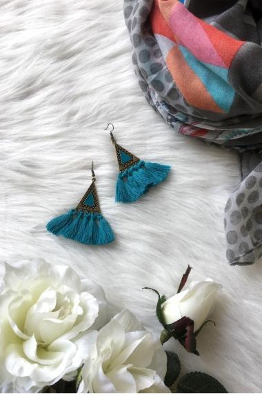 Boucles d'oreilles Anne avec pompons