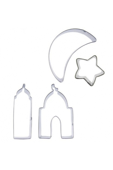 Lot 4 pieces with moon shape - star - minaret - mosque