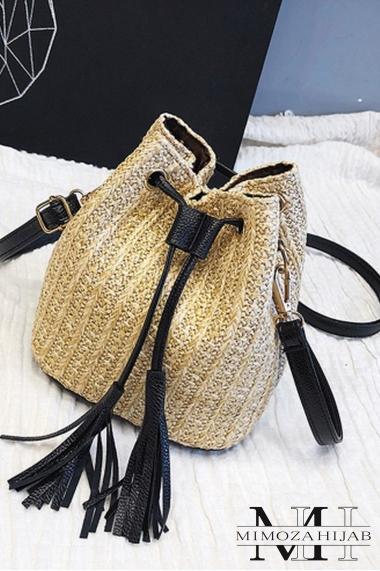 Handbag purse wicker Arusha
