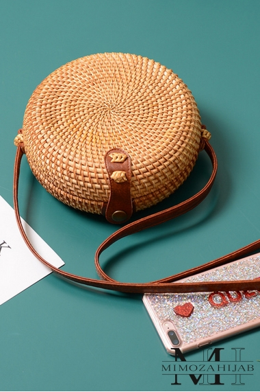 Osmaya wicker shoulder bag