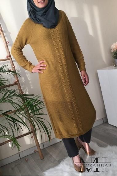 Robe pull Rania ajourée