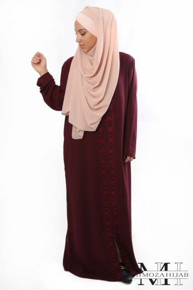 Djellaba DONNA zip and pearls