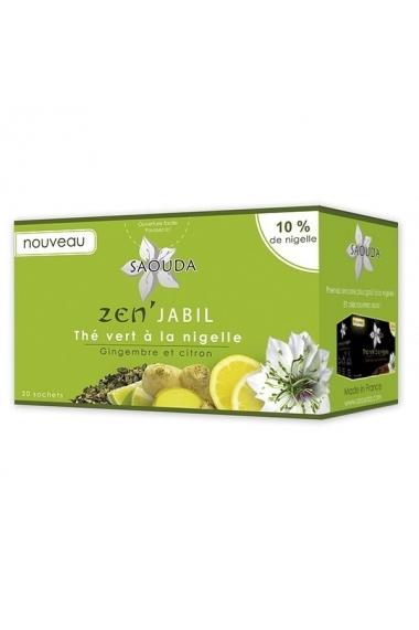 Saouda green tea with nigella ginger and lemon