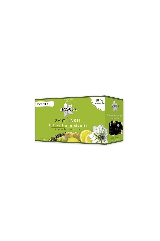Thé vert Saouda à la nigelle gimgembre et citron