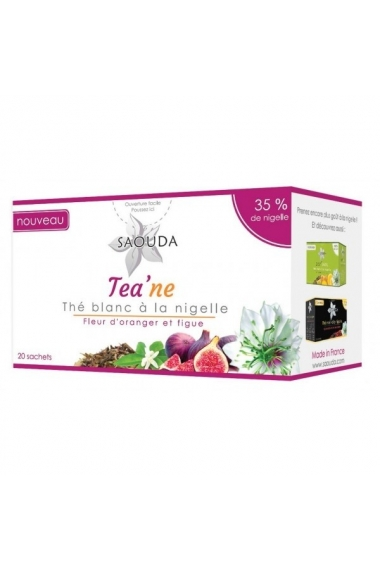 White tea SAOUDA nigelle, orange blossom and fig