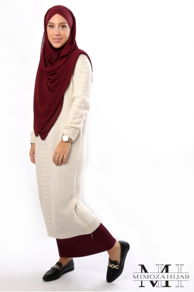 Rania openwork sweater dress