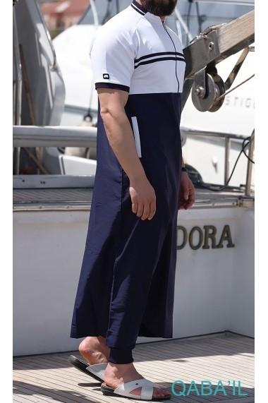 Navy 2 Qabail 2019 Qamis for men