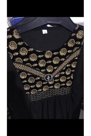 Abaya ying yang motif with rhinestones