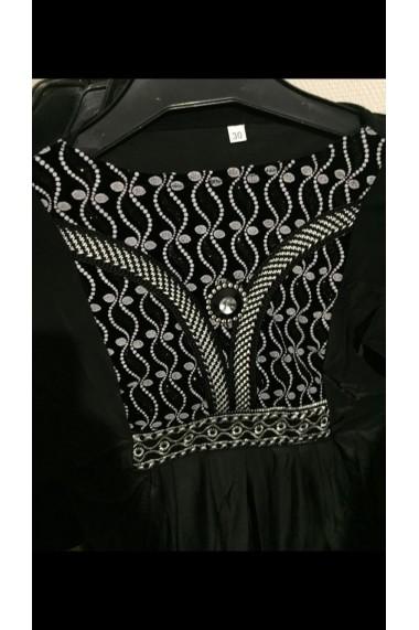 Abaya argenté motif ligne
