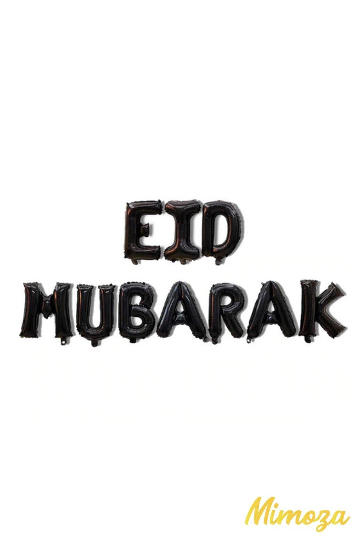 Eid mubarak ballon air ou helium noir