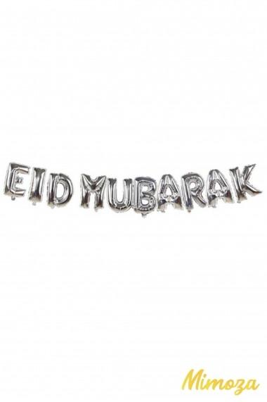 Eid Mubarak decoration in pink metallic inflatable balloons