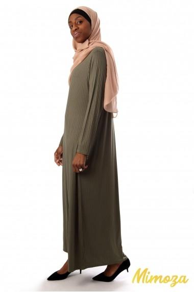 Robe longue simply striée
